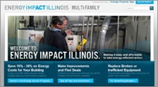 Screenshot of Energy Impact Illinois website.