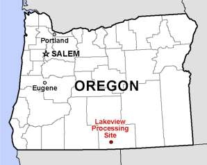Lakeview, Oregon, location map.