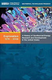 Cover of volume 1 of A History of Geothermal Energy Research and Development in the United States, 1976-2006.