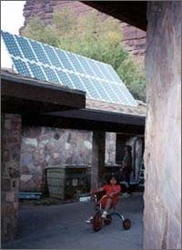 Photo of Photovoltaic Energy System at Havasupai Indian Reservation Village of Supai, Arizona