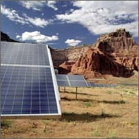 Photo of the Photovoltaic System at Lake Powell, Utah