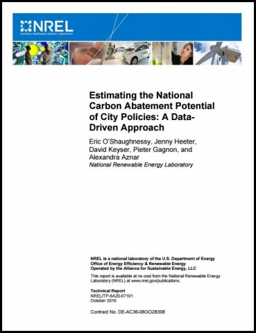 Photo of the estimating the national carbon abatement report.