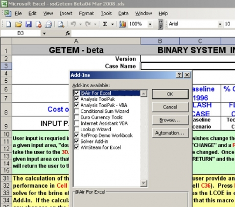 how to create solver tool excel