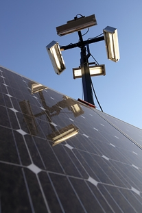 Workers implemented pad-mounted solar lighting, which saved time and money.