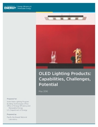Thumbnail photo of the cover of the OLED Lighting Products: Capabilities, Challenges, Potential report.