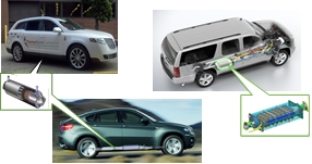 Photo of Lincoln MKT, BMW X6, and GM suburban with illustration of TEG installed in each vehicle.