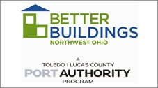 The logo for Better Buildings Northwest Ohio, Toleco Lucas County Port Authority Program.