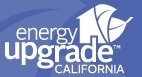 A graphic that contains the words 'Energy Upgrade California.'