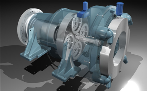 approach to improve all three major components: a single-stage gearbox ...