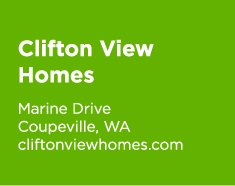 Clifton View Homes, Marine Drive, Coupeville, WA; cliftonviewhomes.com