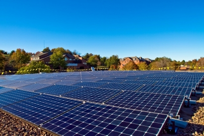 This array on the roof of Eastern Mennonite University's library sets the stage for the school to add even more solar through Solar Market Pathways.