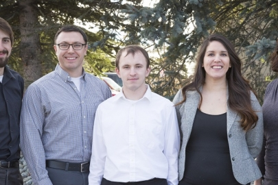 The ANTHC team includes (left to right) Gavin Dixon; Eric Hanssen; Kevin Ulrich; Sharnel Vale; Tashina Duttle; and [not pictured] Bailey Gambell. Photo from Eric Hanssen, ANTHC, NREL 40424