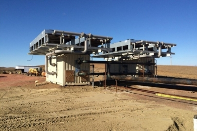 The geothermal facility in the Williston Basin in North Dakota.   Photo by Kirby Baier of Continental Resources