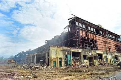 Crews are moving at an impressive pace on Building K-27, completing more than 65 percent of the demolition since February.