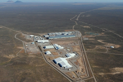 An aerial view of the Idaho Site's Radioactive Waste Management Complex.