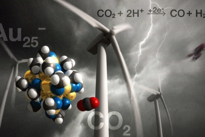 A new chemical process has the potential to reduce atmospheric CO2 emissions by transforming CO2 into fuel and useful chemicals. | Image courtesy of NETL.