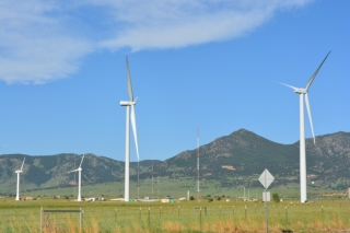 Turbines at the National Wind Technology Center in Boulder, Colorado