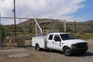 Truck calibrating in Grand Junction, Colordo, office.