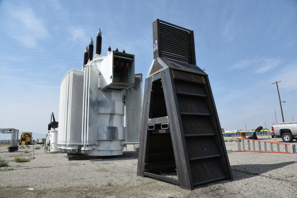 Photo_Caption_1_Ballistic barrier in front of substation.JPG