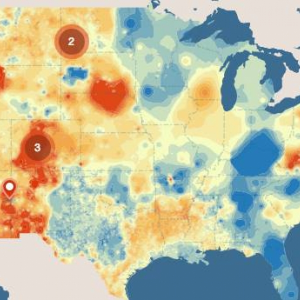 Mapping Geothermal Heat Flow And Existing Plants Department Of Energy - Geothermal-map-of-the-us