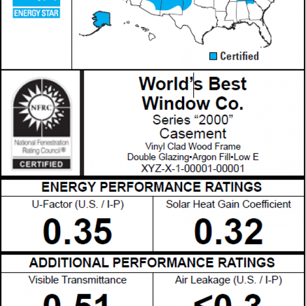 Energy Performance Ratings For Windows Doors And Skylights Department Of