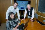 Brookhaven researchers Etsuko Fujita, Jonathan Hull, and James Muckerman developed a new catalyst that reversibly converts hydrogen gas and carbon dioxide to a liquid under very mild conditions. Their findings were published in the March 18th issue of Nature Chemistry. | Photo courtesy of Brookhaven National Lab.