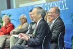 Energy Secretary Steven Chu joins business leaders and the Deans of Engineering schools in Portland, Oregon, to discuss America's need for engineers as part of a regional listening and action session hosted by the President's Council on Jobs and Competitiveness. | Image courtesy of Intel.