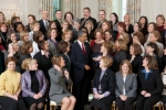 President Barack Obama talks with Presidential Awards for Excellence in Mathematics and Science Teaching winners in the State Dining of the White House January 6, 2010. (Official White House Photo by Chuck Kennedy)