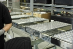 Soitec's concentrating photovoltaic modules use Fresnel lenses to concentrate sunlight 500 times and focus it onto small, high-efficiency solar cells. | Photo by Matthias Heyde, Fraunhofer Institute.