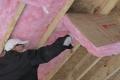 Fit insulation between joists