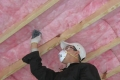 Fasten the insulation in place