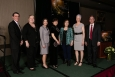 Awardees and distinguished guests at PNNL's Pathway to Excellence Celebration are (left to right) Jud Virden, Associate Laboratory Director, Energy and Environment, Malin Young, Deputy Director for Science and Technology, Jetta Wong, Director for the Office of Technology Transitions, Shari Li, Distinguished Inventor of Battelle, 2016, Zimin Nie, PNNL's Inventor of the Year, 2016 Wendy Bennett, Distinguished Inventor of Battelle, 2016 and Steve Ashby, PNNL Director.