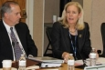 EM Principal Deputy Assistant Secretary Tracy Mustin, second from right, speaks with members of the Environmental Management Advisory Board this week as EM Deputy Assistant Secretary, Safety, Security and Quality Programs, Matthew Moury, second from left, listens.