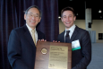 Andrew Heidloff, representing start-up company Iowa Powder Atomization Technologies, is one of America's Next Top Innovators. Secretary Chu announced the winners of the competition today at the 2012 ARPA-E Energy Innovation Summit. | Photo courtesy of ARPA-e contractor Dave Meyer.