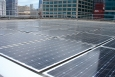 Photovoltaic panels were installed on the Harold Washington Social Security Center in Chicago as part of an Energy Savings Performance Contract.