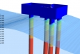 Pressure profile of a wave moving through an offshore structure. Courtesy of MMI Engineering