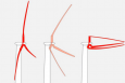 """<div class=""""field field-name-field-map-byline field-type-text-with-summary field-label-hidden""""><div class=""""field-items""""><div  class=""""field-item odd"""">Sandia's design for giant wind turbine blades that are stowed at dangerous wind speeds to reduce the risk of damage.   Courtesy of TrevorJohnston.com/Popular Science</div></div></div>"""