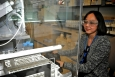 Hnin Khaing focuses on her work at WIPP Laboratories near Carlsbad, New Mexico