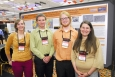Idaho State University's National Geothermal Student Competition team presenting their research findings at the 2012 Geothermal Resources Council spring/summer meeting.   Photo courtesy of the Geothermal Resources Council.