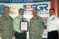 From left: Assistant Adjutant General for Air and Commander of the New Mexico Air National Guard Colonel Steven J. VerHelst; Franco; New Mexico Army National Guard Chief of Staff Colonel Timothy Paul; and Eddy County, N.M., ESGR Chairman Tony Renteria. The National ESGR seeks to develop and promote a culture in which all American employers support and value the military service of their employees.