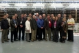 Members of the project peer review team for the River Corridor Closure Project at the Hanford site gather for a photo while on a tour of Hanford's B Reactor National Historic Landmark in February.