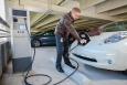 An increasing number of employers are offering workplace charging.   Photo courtesy of Biogen Idec, Inc., a partner of the Workplace Charging Challenge.