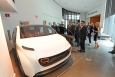 """Energy Department representatives visit """"Deep Orange 5,"""" the fifth version of Clemson University International Center for Automotive Research's (CU-ICAR) industry-sponsored and student-led vehicle project. DeepOrange is a an innovative approach to engineering education, teaching graduate students a complete product development process. 