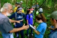 CRESO Director John Byrd provides direction to students gathering data for their research on the region's box turtle.