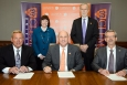 Pictured left to right, Fluor Government Group President Bruce Stanski, SRNL Deputy Director Sharon Marra, Clemson President Dr. James P. Clements, Clemson Provost Dr. Bob Jones, and SRNL Laboratory Director Dr. Terry Michalske.