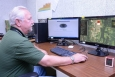 Larry McCandless of Fluor-BWXT Portsmouth demonstrates the use of the GIS viewer.