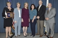 Pictured, left to right: Pam Marks, Federal Project Director, DOE-Savannah River Salt Waste Processing Facility Project Office (SWPFPO); Mary Ann Hopkins, President, Parsons Government Services, Inc.; Elizabeth Sherwood-Randall, DOE Deputy Secretary; Kim Rapp, Project Controls Lead, SWPFPO; Shayne Farrell, Deputy Federal Project Director, SWPFPO; and Frank Sheppard, Senior Vice President and SWPF Project Manager, Parsons.