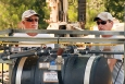 SRNS operators Stanley Creech (left) and Paul Dobson monitor the injection of silver chloride into an aquifer at SRS.