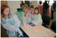 """Middle school girls attending the Argonne National Laboratory's """"Introduce a Girl to Engineering Day."""""""