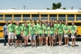 Kentucky Governor's Scholars pose before boarding a bus during their Paducah site visit this summer.